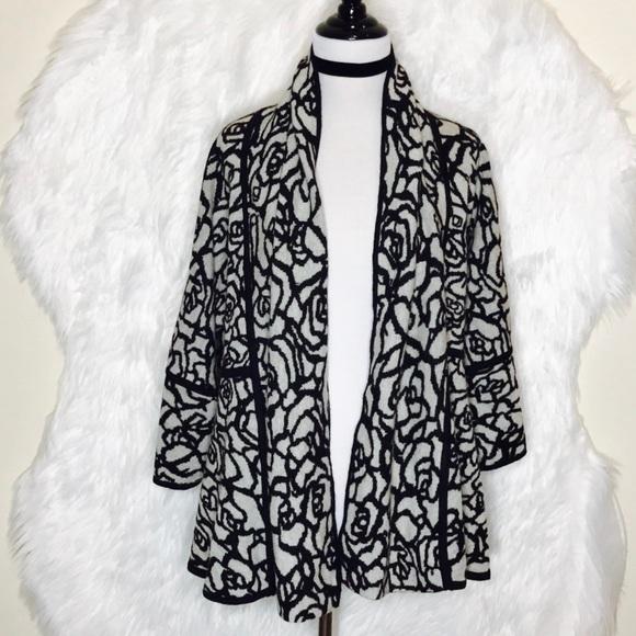 8e5367c70b Madison Sweaters Black Gray Reversible Cardigan